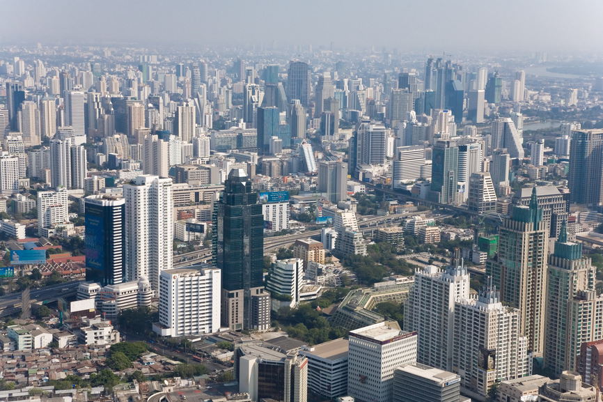 Bangkok, panorama, aerial photo