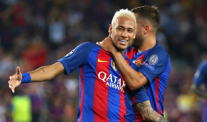Football Soccer - FC Barcelona v Celtic - UEFA Champions League Group Stage - Group C - The Nou Camp, Barcelona, Spain - 13/9/16 Barcelona's Neymar celebrates scoring their third goal Reuters / Paul Hanna Livepic EDITORIAL USE ONLY.